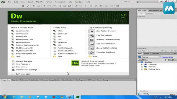 Formation – Dreamweaver CS6