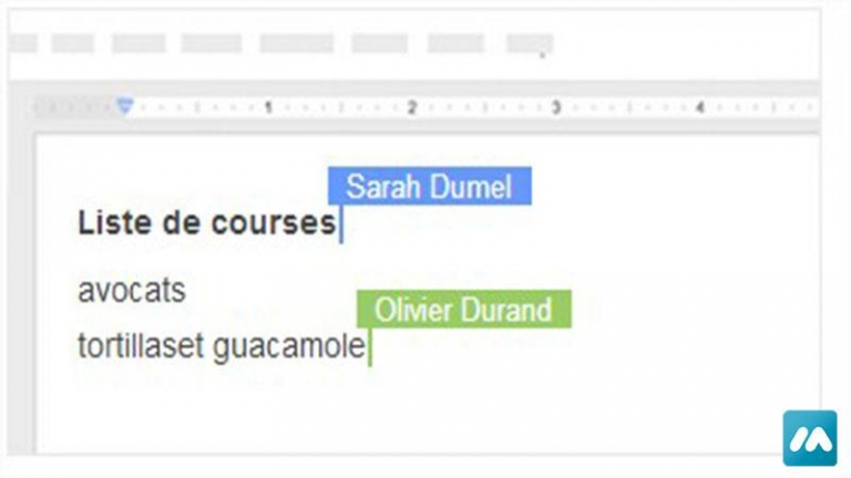 Formation – Google Documents texte