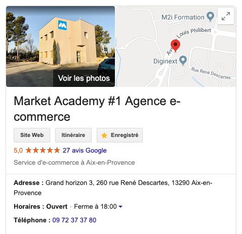 knowledge graph etablissement local google my business