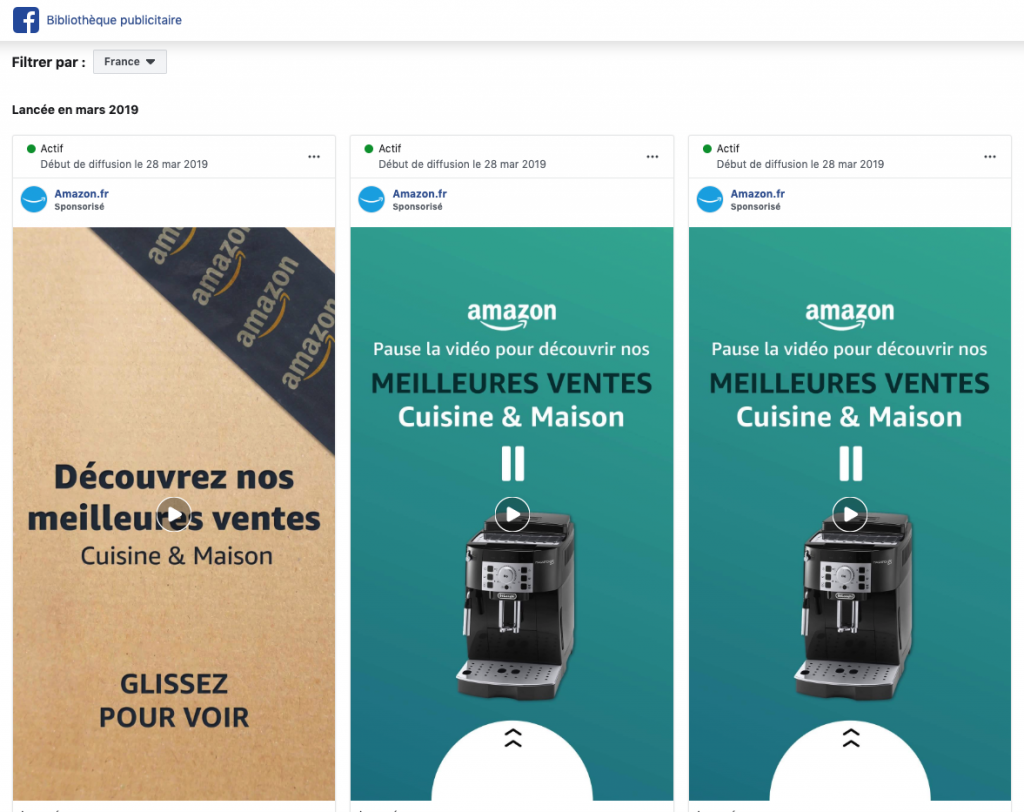 bibliotheque publicitaire facebook ads amazon.fr