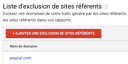 liste exclusion de sites référents paypal google analytics
