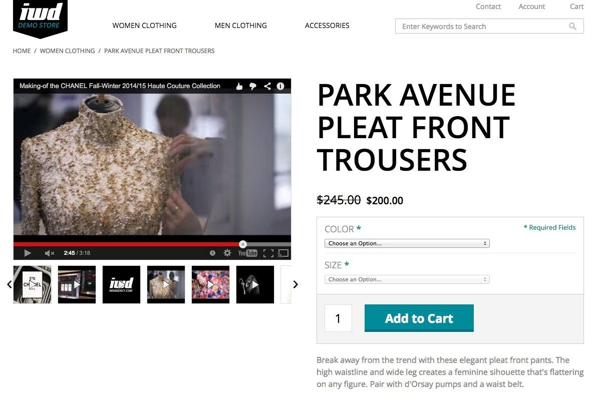 product videos extension magento