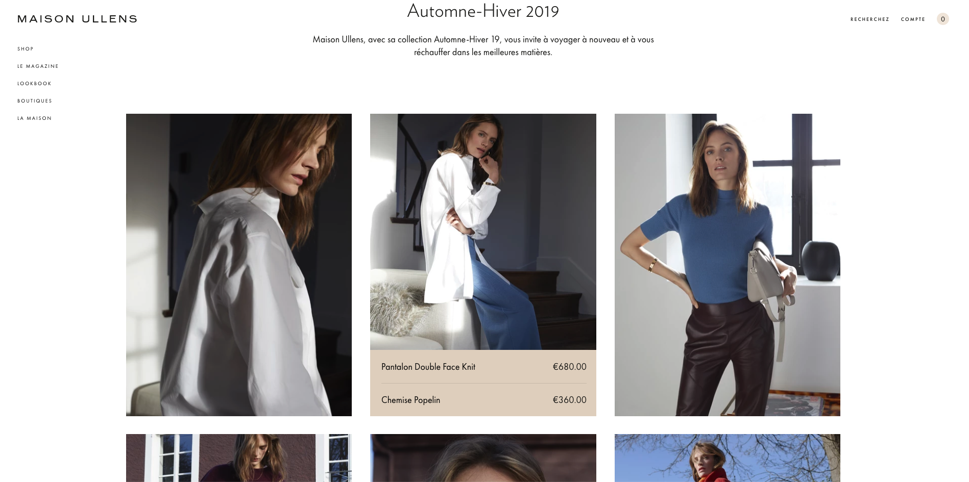 maison ullens lookbook ecommerce