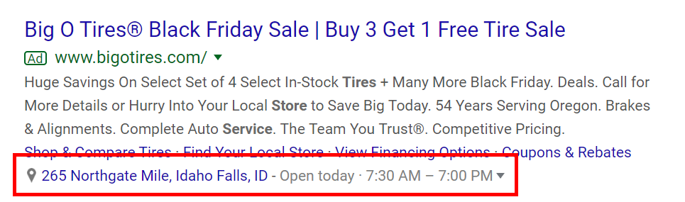extension locale google ads